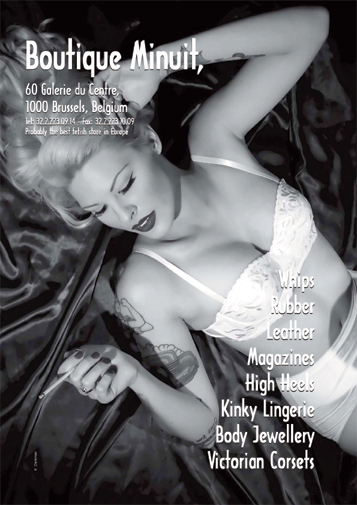 Lottie Da Lucks on the back cover of Secret Magazine