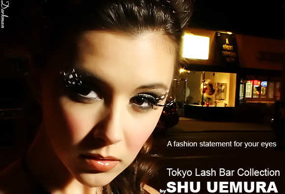 Shu Uemura Eyelash Ad - Close up shot with the Photoflex