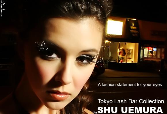 Shu Uemura Eyelash Ad - Close up shot with the Photoflex